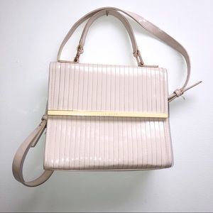 Ted Baker Nude Patent Leather Bag Purse handbag